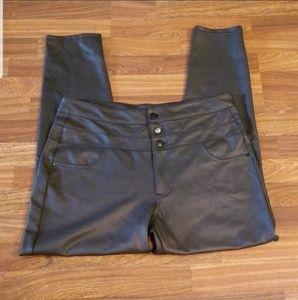 Refuge Faux Leather High Waist Skinny Pants Sz.16